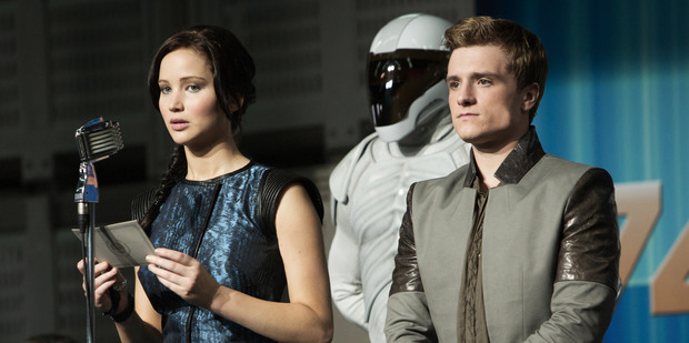 Loading Jennifer Lawrence and Josh Hutcherson in The Hunger Games: Catching Fire. Photo / AP