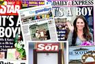 A montage of the Royal baby covers.