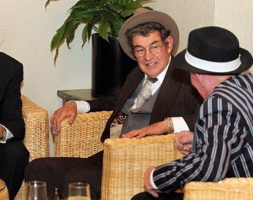Mike Wills, Napier, John Chrystal, Napier, pictured at Hooch-Mooch on Herschell, an event at the Napier Club, Napier, part of DIY Deco Weekend, a mid-winter Art Deco festival