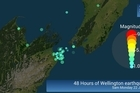 Watch an animation of the last 48 hours of earthquakes from Wellington and Seddon from Saturday 9am to Monday 9am.