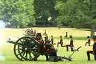As Britons take in the news that the new royal baby is a little boy, the King's Troop Royal Horse Artillery mark the occasion with a royal gun salute in Green Park, near Buckingham Palace.