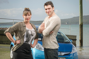 Bronwyn Turei and Matt Whelan have taken part in a fuel economy challenge, driving a Honda Jazz. Photo / Ted Baghurst