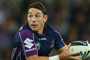 A likely scenario could see the Storm send Billy Slater and Cooper Cronk for example. Photo / Getty Images