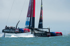 Team New Zealand have enjoyed another big win to secure a Louis Vuitton Cup final spot. Photo/Getty.
