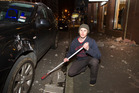 Kyle Woods says he watched from the footpaths as debris rained onto the roof of his car. Photo / Mark Mitchell