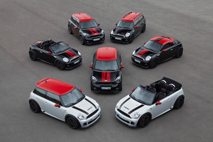 The complete Mini JCW range. Photo / Supplied