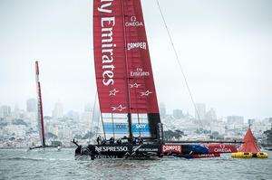 Emirates Team New Zealand AC72, NZL5. Photo / Chris Cameron