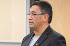 Mana Party Leader Hone Harawira at Auckland District Court. Photo / Greg Bowker