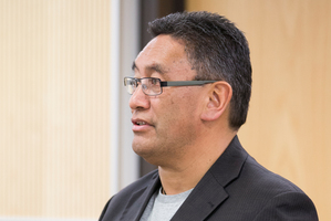 Mana Party Leader Hone Harawira at Auckland District Court. Photo / NZ Herald