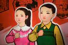 A patriotic propaganda poster in North Korea. Photo / AP