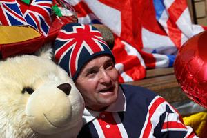 Royal supporter John Loughrey.Photo / AP