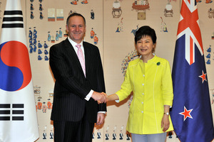 Mr Key has extended an invitation to President Park to visit New Zealand when her schedule permits. Photo / AP