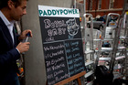 A bookie showing odds on different names for the royal baby outside St. Mary's Hospital Lindo Wing.Photo / AP