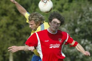 Melville United centre back Gavin Douglas. Photo / Brett Phibbs.