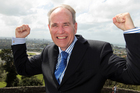Auckland Mayor Len Brown today at One Tree Hill. Photo / NZH