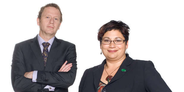 Green Party co leaders Russel Norman and Mitiria Turei. Photo / Listener