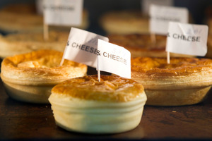 Mince and cheese pies at the judging of the New Zealand Bakels Supreme Pie Awards in Auckland. Photo / Richard Robinson