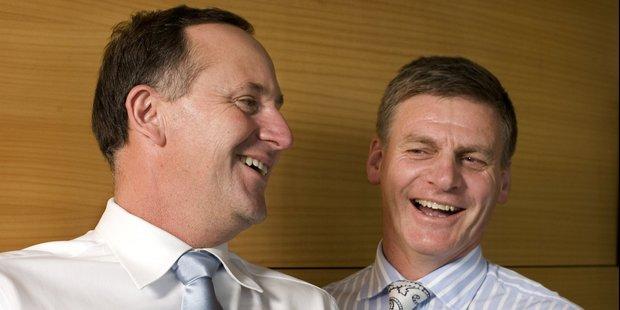 Prime Minister John Key and Minister of Finance Bill English. Photo / Listener