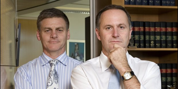 Prime Minister John Key and his right-hand man, Bill English