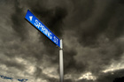 Blue street name signs are being phased out. Photo / Michael Craig
