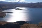 The Moawhango Lake on New Zealand Defence Force land near Waiouru.