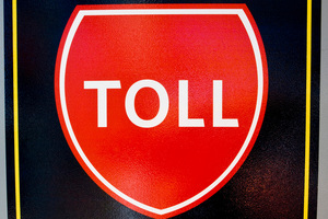 Toll Road sign. Photo / APN