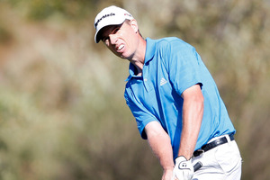 Hamilton golfer Steven Alker remains in contention for his second Web.com Tour title of the season. Photo/Martin Hunter