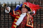 Tony Appleton outside of the Lindo Wing of St Mary's Hospital in London. Photo / AFP