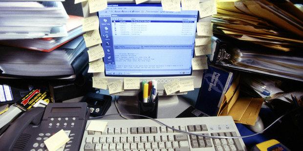 'Don't look at my desk!' Photo / Thinkstock