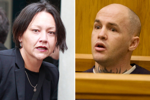 Lawyer Davina Murray and convicted murderer and rapist Liam Reid. Photos / File