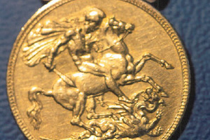 One of the stolen coins.