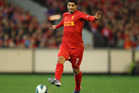 Luis Suarez in action for Liverpool against the Melbourne Victory. Photo / Getty Images