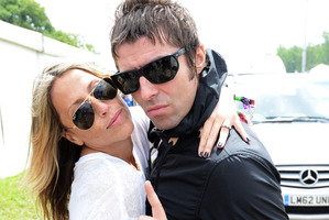 Liam Gallagher and Nicole Appleton at 2013 Glastonbury Festival. Photo / Getty Images