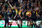 Liam Messam of the Chiefs celebrates the win on full time. Photo / Getty Images