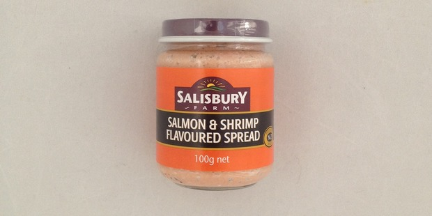 Salisbury Farm Salmon & Shrimp Spread, $1.99 for 100g.