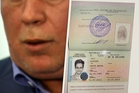 Anatoly Kucherena displays Edward Snowden's entry visa. Picture / AP