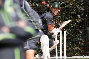 Australia's David Warner may come in at No6 if Steve Smith is ruled out because of a back injury. Photo / AP