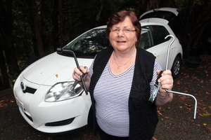 Val Moore was thrilled when strangers came to her aid when her car got a puncture. Photo / Doug Sherring