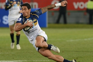 Wing Joe Tomane makes a break for the final-bound Brumbies. Photo / Getty Images