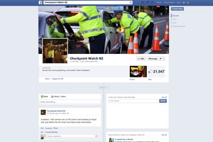 The Checkpoint Watch Facebook page has proved popular with drivers.