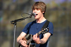 Jake Bugg showed off his impressive guitar skills and a rustic twang that has seen him named 'the new Dylan'. Photo / AP