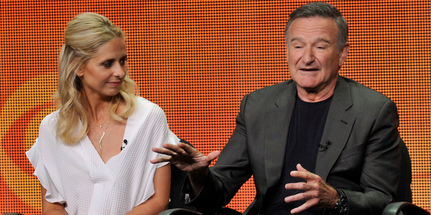 Sarah Michelle Gellar, left, and Robin Williams will star in The Crazy Ones. Photo / AP