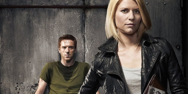 Loading Damian Lewis and Claire Danes from Homeland. Season three is returning to screens later this year.