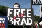Supporters of whistle-blower Bradley Manning react to news that he's been convicted of all but two of the charges against him.