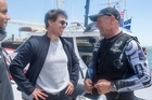 It was a big day for Emirates Team New Zealand sailing in the final race against Luna Rossa, but perhaps the biggest thrill of the day came as Tom Cruise and his son Connor jumped onboard the AC72 and took the helm on a thrill ride around San Francisco Bay.