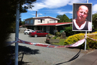The crime scene in Featherston, and Glen Jones (inset). Photos / Rebecca Quilliam