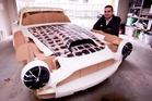Ivan Sentch who is building a Classic Aston Martin using a 3-D printer. Photo / Dean Purcell.