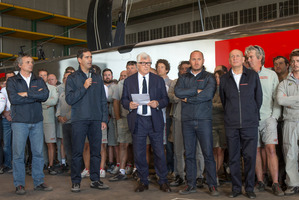 Luna Rossa have been stung over $110,000 for failing to turn up to the Louis Vuitton Cup opening party last month. Photo / Carlo Borlenghi/Luna Rossa.