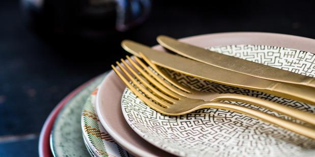 Seletti gold Midas cutlery $461.35 from Seletti Boutique. Photo / Babiche Martens