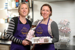 Sisters Clare Fleming and Sarah Gibbs launched Posh Puffs after a family competition to find the perfect marshmallow. Photo / Tim Cuff